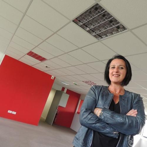 Aline Gérard aménage son école d'esthétique dans des locaux du centre d'affaires Eleusis