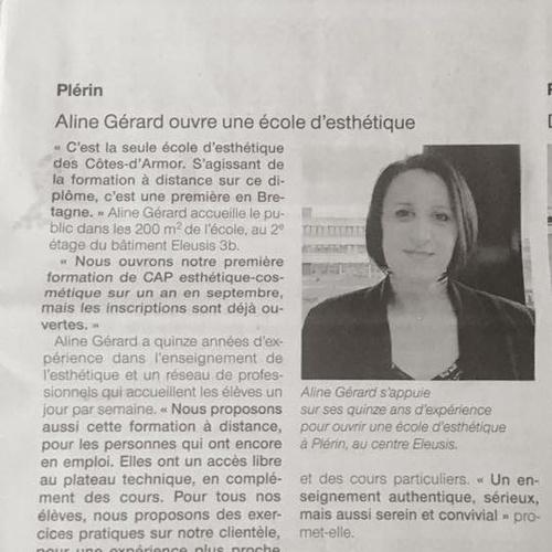 Aline Gérard- École d''esthétique dans les côtes d''armor